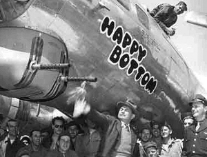 B-17 Happy Bottom and Edward G. Robinson